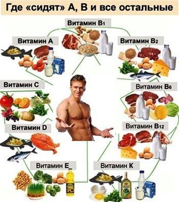 Разнообразные продукты – море витаминов