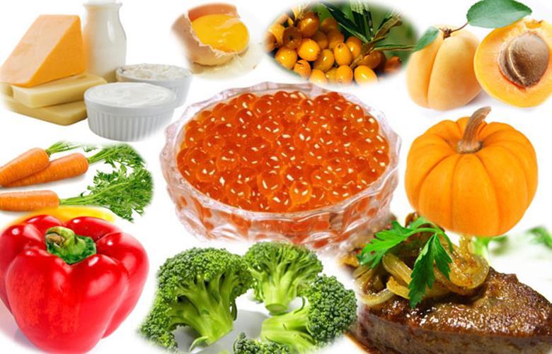 Содержится в оранжевых и зеленых овощах
