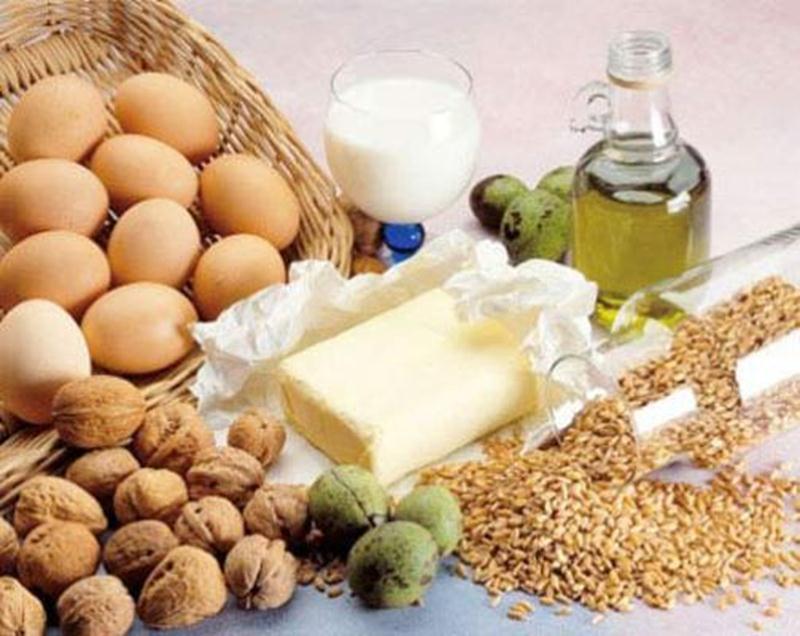 Оливковое масло, злаки, яйца, молоко
