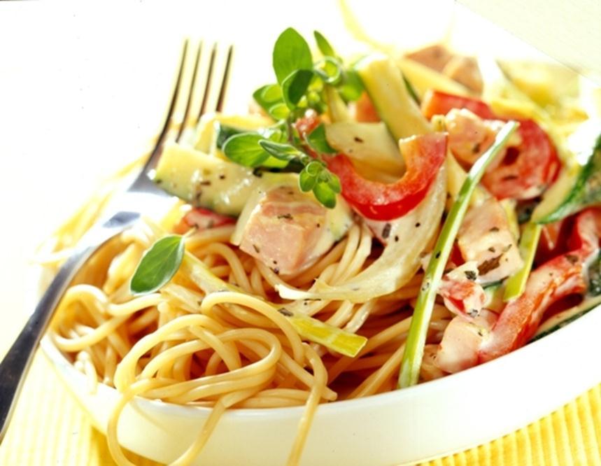 Морепродукты отлично сочетаются с макаронами