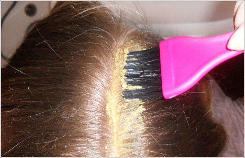 Кисточка для распределения состава по длине волос