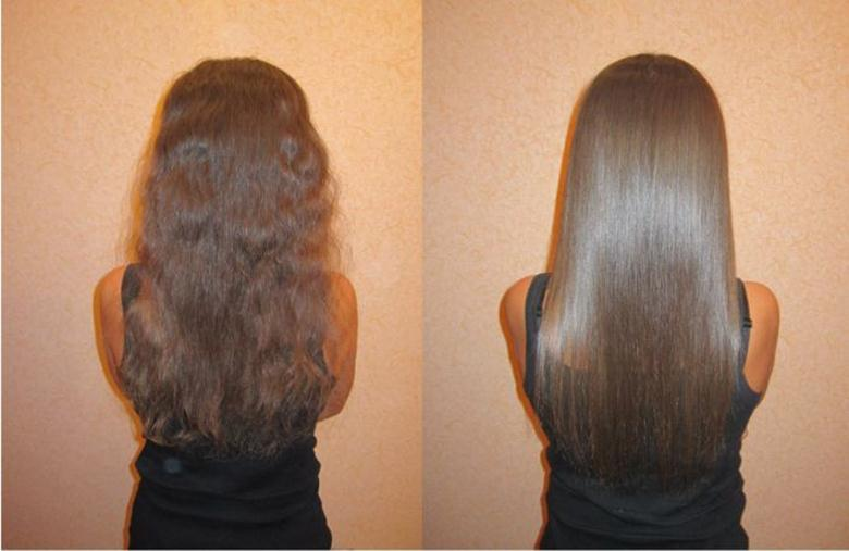 Гладкие волос в домашних условиях