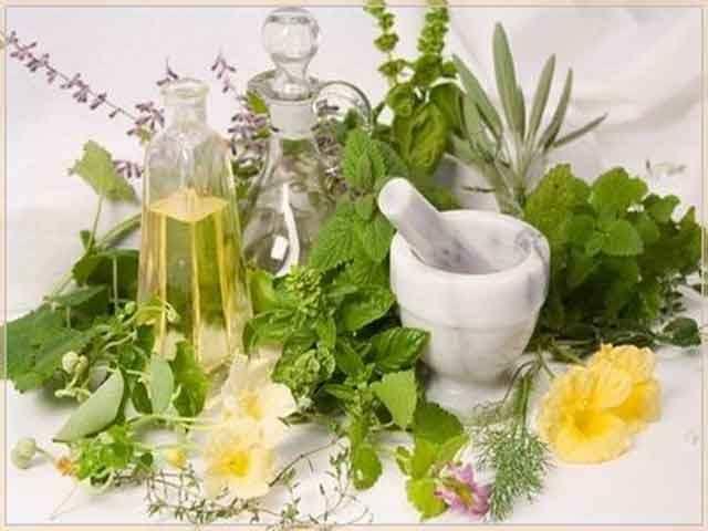 Ступка, пестик и сырье