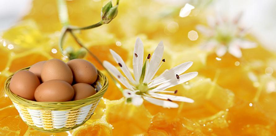 Медовые соты и куриные яйца