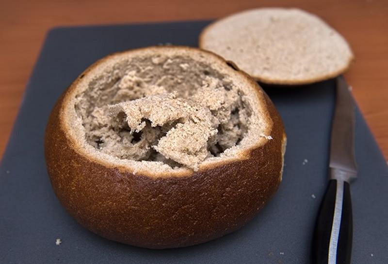 Хлеб со срезанной верхушкой