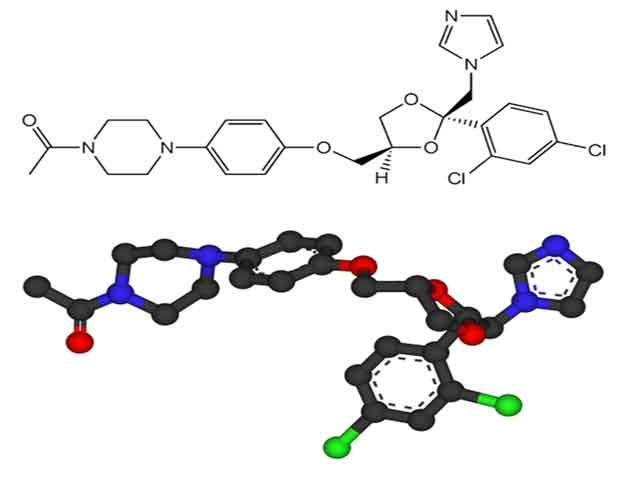 Молекула противогрибкового вещества