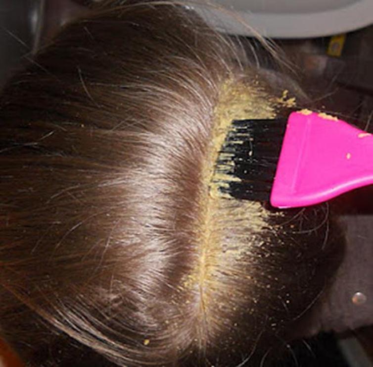 Горчица на волосах