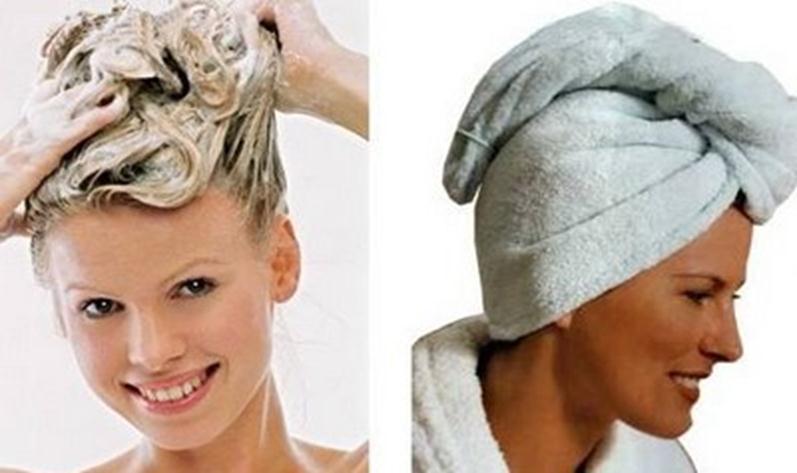 Использование шампуня