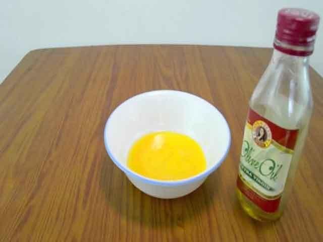Растительное масло и желток